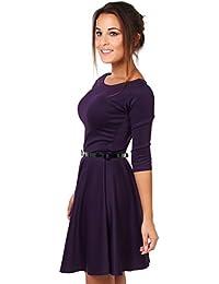 KRISP® Damen Skater Kleid mit Gürtel