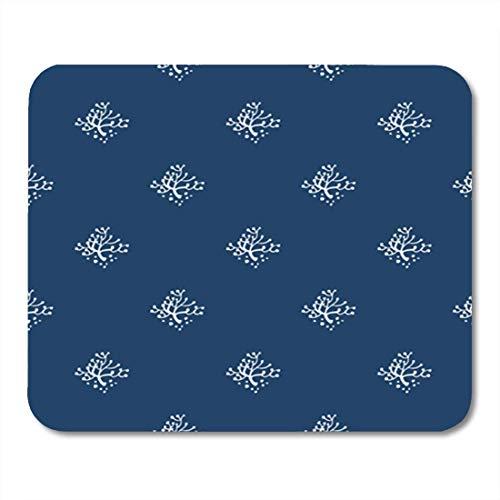 Gaming Mauspads, Gaming Mouse Pad Pattern Indigo Blue Delft Dutch Ceramic Denim Diamond Doodle 11.8