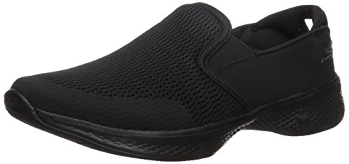 Skechers Go Walk 4-attuned, Sneaker Infilare Donna Nero (Black)