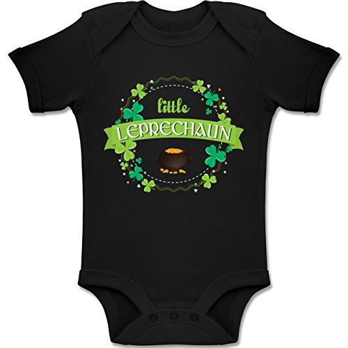 Anlässe Baby - Little Leprechaun St Patricks Day - 18-24 Monate - Schwarz - BZ10 - Baby Body Kurzarm Jungen Mädchen (Süße Feiertags Kostüme Ideen)