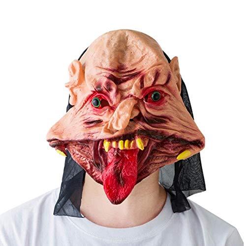 Beängstigend Adult Kostüm - ZXIU Masken für Kostüme Maskerade Masken Beängstigend Adult Latex Creepy Party Scary Mask Kostüm