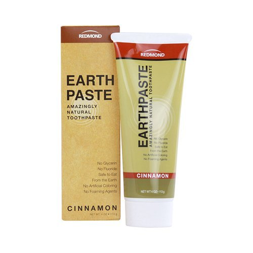 Pack of 8 x Redmond Trading Company Earthpaste Natural Toothpaste Cinnamon – 4 oz