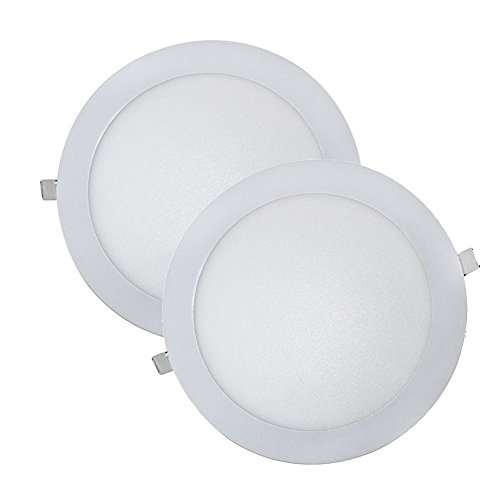 Wonderlamp W-E000045 - Juego 2 Downlight LED Extraplano Redondo, Iluminacion 18W (1450...