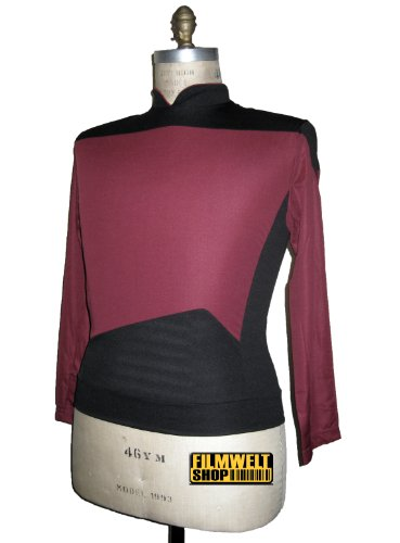 Star Trek - The Next Generation - Captains Uniform Shirt - Rot - XXXL (Shirt Next Uniform Generation)