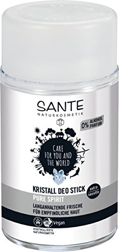 SANTE Naturkosmetik Kristall Deo Stick, Mindert Schweißproduktion, Mild & hautverträglich, Ohne Alkohol, Vegan, - Kristalle Körper