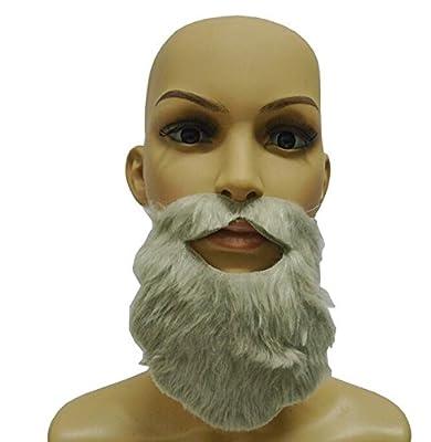 Qingsun barbe Costume Drôle Fausse Barbe Moustache Postiche Déguisement Soirée Halloween Noël,