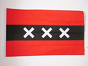 AZ FLAG DRAPEAU Amsterdam Drapeau 150x 90cm