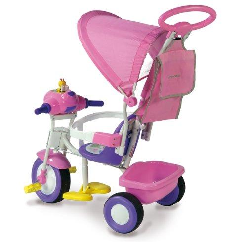 Biemme 1497-RS Baby Plus - Triciclo con Parasol (96 x 44 x 95 cm), Color Rosa