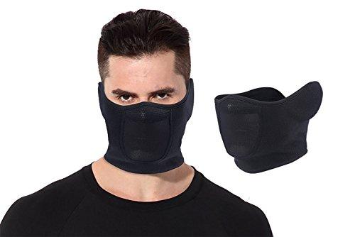 ScottEdward Kalten Wetter Balaclava Ski Maske Halbe Gesichtsmaske Fleece für Winter Sport Unisex Winter-ski-maske