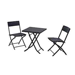 outsunny gartenm bel polyrattan bistro set balkonm bel garnitur sitzgruppe 3 teilig. Black Bedroom Furniture Sets. Home Design Ideas