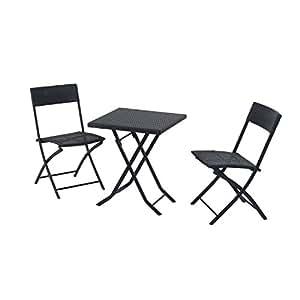 outsunny gartenm bel polyrattan bistro set. Black Bedroom Furniture Sets. Home Design Ideas