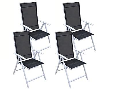 4 tlg Alu Gartenmöbel Gartengarnitur Garten Set Sitzgruppe Stuhl Stühle Garnitur
