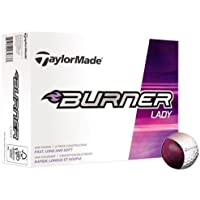 TaylorMade Burner Lady Balls for Women, White, One Size