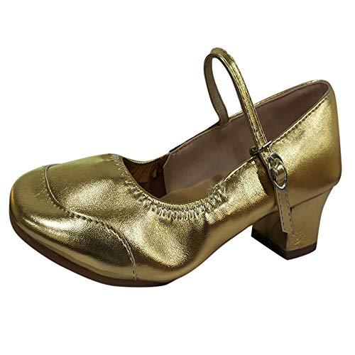 JiaMeng Damen weiche Sohlen tragen beständige Tanzschuhe Moderne Schuhe Schnalle Schuhe