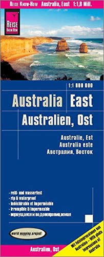 Reise Know-How Landkarte Australien, Ost / Australia, East (1:1.800.000): reiß- und wasserfest (world mapping project) (Map-tasmanien)