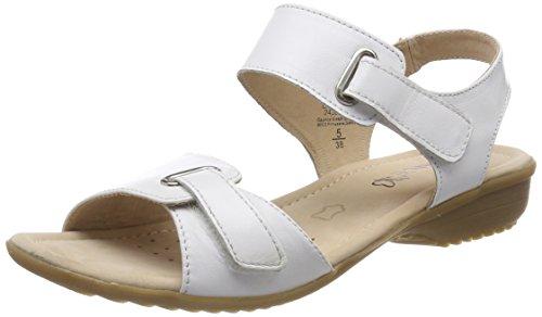 Caprice Damen Slingback Sandalen, Weiß (White Nappa 102), 40 EU (Weiße Frauen Flache Sandale)