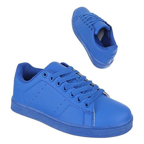 Damen Schuhe, 6-188, FREIZEITSCHUHE SNEAKERS TURNSCHUHE Blau