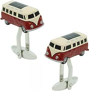 Masgemelos Transporter Hippie Volkswagen Bordeaux Cufflinks Manschettenknöpfe Schmuck