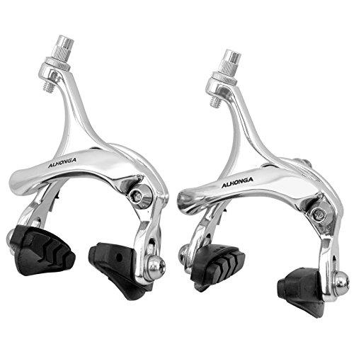 2899 Bremse für Rennrad oder Fixie, Hufeisenform, poliertes Aluminium, Silberfarben