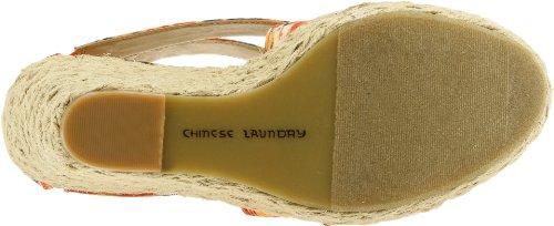 Chinese Laundry Milk Shake Femmes Toile Sandales Compensés Orange