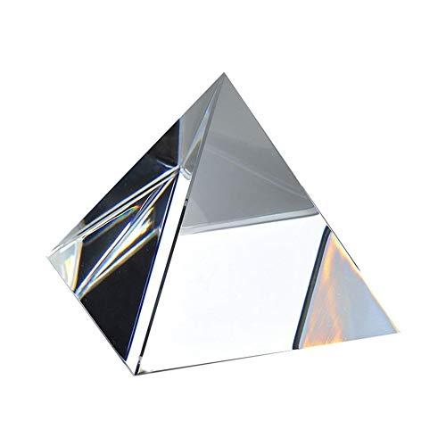 bismarckber 5/6/7/8 cm klares Glas Kunstkristall Pyramide Prisma Handwerk Home Office Decor Ornament, durchsichtig, 7cm (Für Klar-glas-ornamente Handwerk)