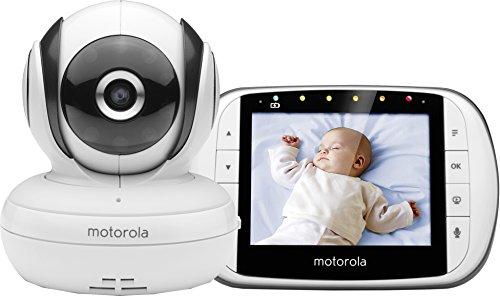 """Motorola MBP36S - Vigilabebés vídeo con pantalla a color de 3.5"""", color blanco"""