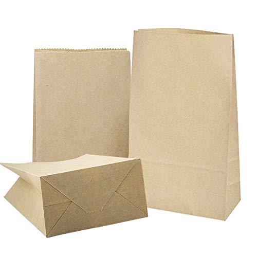 20 Braune Papier-Beutel Papiertüten Kraftpapiertüten 32 x 18 x 11 cm 70 gr./m2 Tütchen Tüten mit Boden Kraftpapier für Geschenktüten Ostertüten Adventskalender Brot Belegte Brote Verpacken Keks -