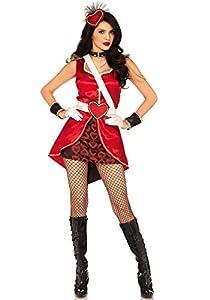 Leg Avenue- Mujer, Color Rojo, Medium (EUR 38-40) (LO85649)