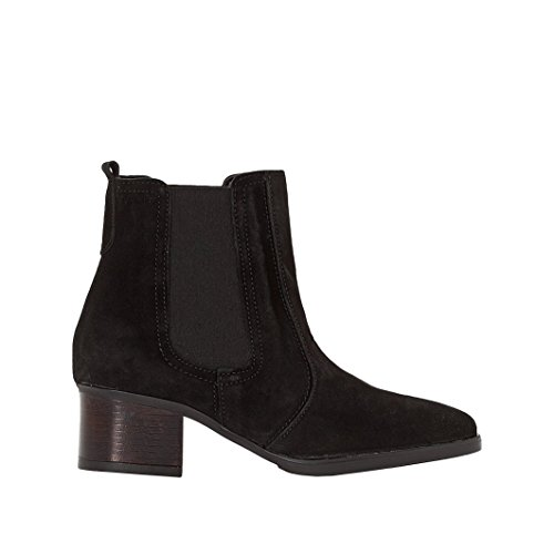 Esprit Donna Boots Pelle Con Tacco Laurie Bootie Nero