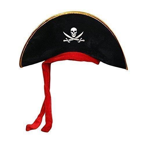Kostüm Schädel & Knochen Piraten Hut - Kinder Größe (Schädel Piraten Mädchen Kostüm)
