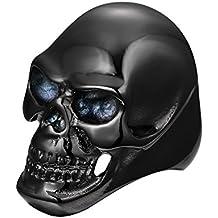 UM Joyería Hombres Acero inoxidable Cráneo anillos gótico Punk ciclista Fantasma ...