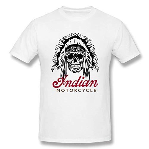 Oaueaiw Indian-Motorcycle T-Shirt Unisesx Men Women Youth Cotton Tee,White,Large -