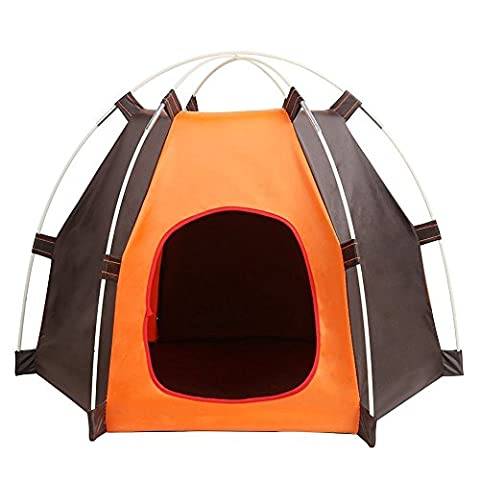 Pet House, Folding Cat House, Portable Waterproof Pet Tent for Small Dog and moggies, Indoor & Outdoor Small Animals Shelter Lovely for the Kitties to Snooze in.