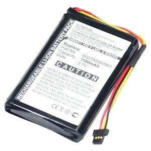 subtel® Batterie premium pour TomTom XL IQ Routes™ (1100mAh) Batterie de recharge, Accu remplacement