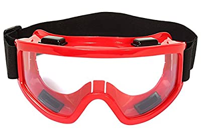 Generic Adult Motorbike Motocross Atv / Dirt Bike Racing Transparent Goggles With Adjustable Strap (Colors & Designs May Vary)