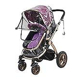Universal-Regenschutz für Kinderwagen / Buggy, transparent, wasserdicht, faltbar, winddicht, UV-Schutz, Regenabdeckung, für Kinderwagen und Buggy