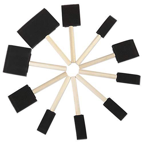 Outtybrave Malerpinsel-Set mit Holzgriff, für Acryl, Lacke, Kunst, 10 Stück Siehe Abbildung 1 inch/2 inch/3 inch/4 inch