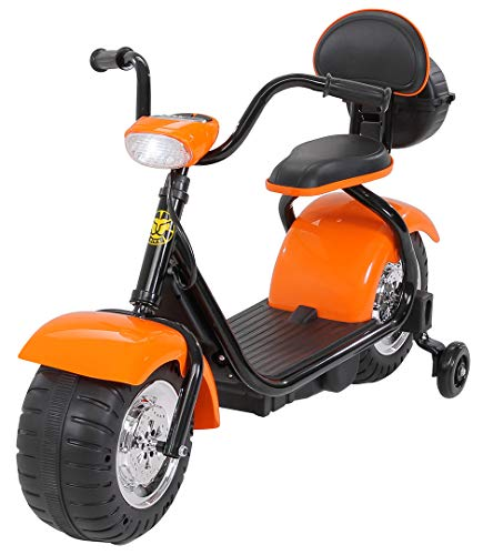 Actionbikes Motors Kinder Elektromotorrad Harley Scooter BT306 - 15 Watt Motor - Weichgummiring Reifen (Orange)