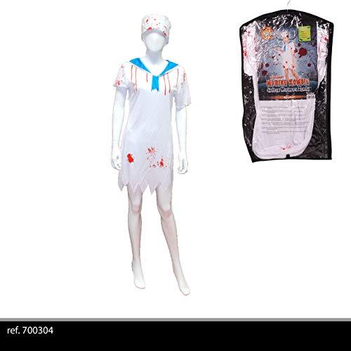 urban living Kostüm Damen Marin Zombie für Erwachsene, Unisex, 700304, Weiß und (Marine Zombie Kostüm)