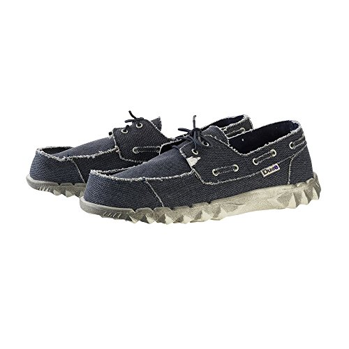 Dude Shoes Mens Puchi Classic Navy Stonewash blue