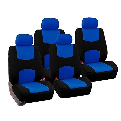 Qiaoxiao Seggiolino Auto Coperchio 4 Pezzi di Ricambio Anteriore Seat Cover Four Seasons Universale Traspirante Caldo Molle Offerta Copertura di sede Anteriore seggiolino Auto (Color Name : Blue)