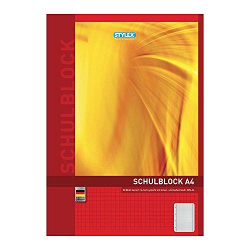 LANDRÉ 100050455 Schulblock DIN A4, Lineatur 28 / kariert