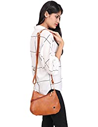 ELIMIER Synthetic Leather Sling Bag For Girls And Women - B077ZSVQZ7