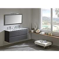 Modulintel Conjunto de baño, Melamina, Gris, 120 cm