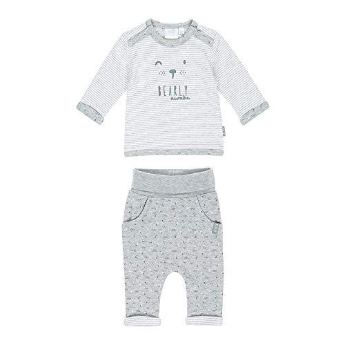 Feetje Feetje Baby-Jungen Zweiteiliger Sweat-Anzug Hugh and Kisses, grau Melange, 50