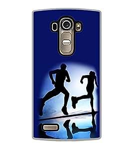 PrintVisa Designer Back Case Cover for LG G4 :: LG G4 Dual LTE :: LG G4 H818P H818N :: LG G4 H815 H815TR H815T H815P H812 H810 H811 LS991 VS986 US991 (Jogging Health Run Sky Walk Morning)