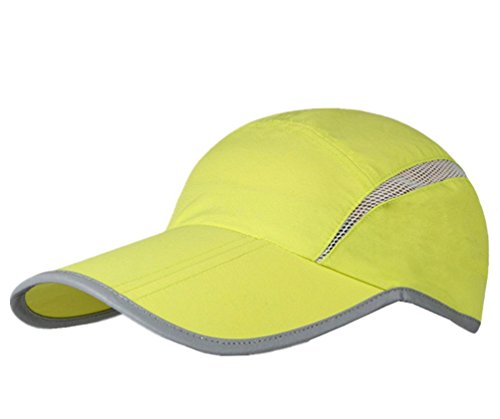 GADIEMENSS Quick Dry Sports Hat Lightweight Breathable Soft Outdoor Running Cap (Folding series, Fruit Green)