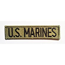 Parches - U.S. MARINES Army - negro - 11.2x2.9cm - termoadhesivos bordados aplique para ropa