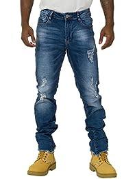 Jeans Homme Regular Fit - détail à l'abrasion à Ourlet Effiloché EMIL