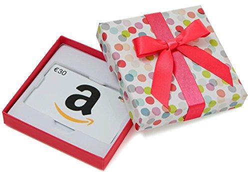 tschein in Geschenkbox - 30 EUR (Bunte Punkte) (Gifts.com Gutschein-code)